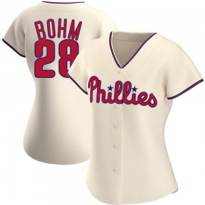 Women's Philadelphia Phillies Alec Bohm Cream Alternate Jersey - Authentic